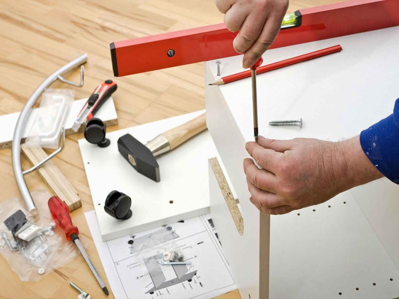 Этапы производства мебели - Установка мебели